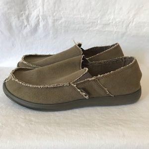 Crocs Santa Cruz Slip On Canvas Loafers